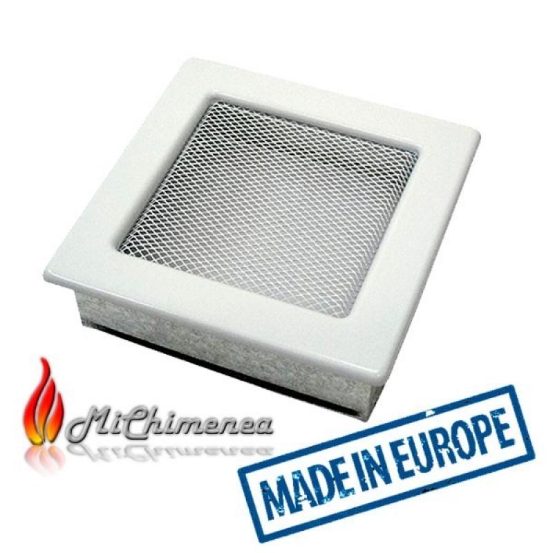 Rejilla de chimenea 17x17 Blanca