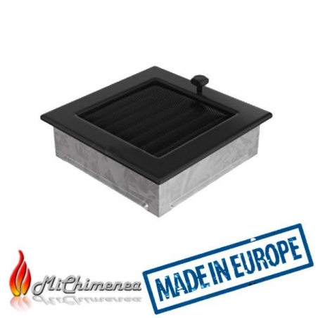 Rejilla de chimenea regulable 17x17 Negra