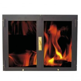 puerta de chimenea dos hoja